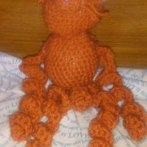 Crocheted Foxy burnt orange fox stuffed animal