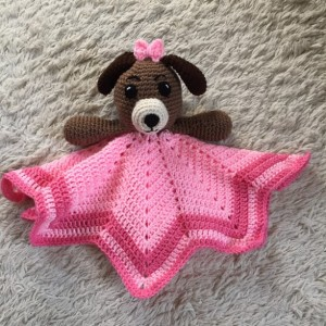 Puppy Lovey Baby Blanket, Comfort Blanket, Security Blanket, Baby Shower Gift