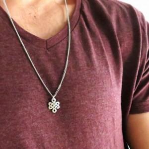 Men's Necklace - Men's Infinity Necklace - Men's Silver Necklace - Mens Jewelry - Necklaces For Men - Jewelry For Men - Gift for Him