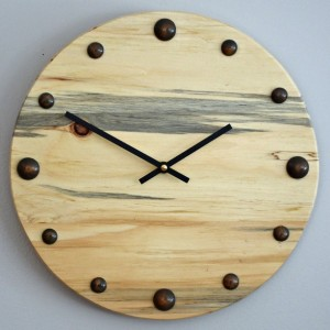 "Unique 12"" Blue Pine Clock"