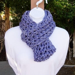 Light Purple CROCHET INFINITY SCARF Loop Cowl, Thick Chunky Soft Short Warm Winter Women's Circle Endless Knit, Ready to Ship in 3 Days