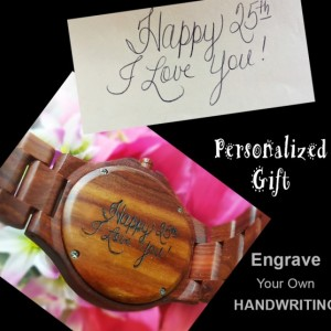 Personalised Gifts: UD Unisex Engraved wooden watch, Groomsmen gift sets, Anniversary gifts for men, Valentines gift for him, Gifts for dad