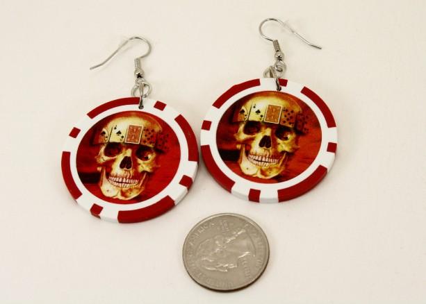 Poker Chip Earrings