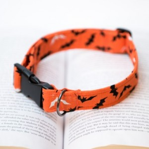 Halloween Dog Collar, Halloween Print Dog Collar, Dog Collar, Printed Dog Collar, Halloween Printed Dog Collar, Bat Print Collar, Bat Print