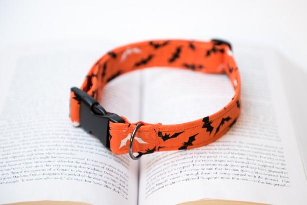 Halloween Dog Collar, Halloween Print Dog Collar, Dog Collar, Printed Dog Collar, Halloween Printed Dog Collar, Bat Print Collar, Bat Print