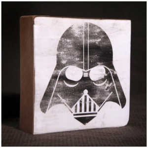 Star Wars Darth Vader Reclaimed Wood Block Art Piece