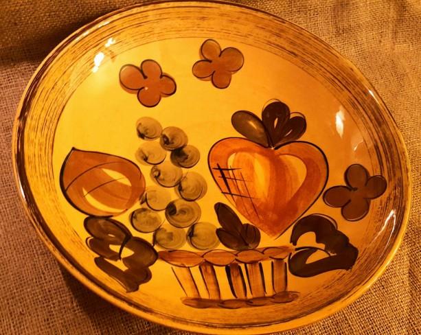 Vintage handpainted fruit bowl