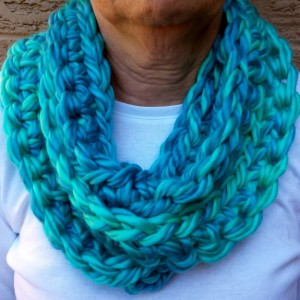 Chunky Long Scarf, Long Infinity Scarf, Wrap Scarf