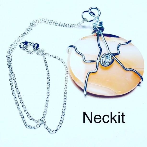 Carnelian Healing Stone Sterling Silver Necklace