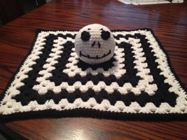 Crochet Jack Skellington Lovey