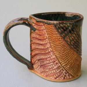 Salamander Mug Pottery Coffee Cup Handmade Stoneware Tableware Functional Microwave and Dishwasher Safe