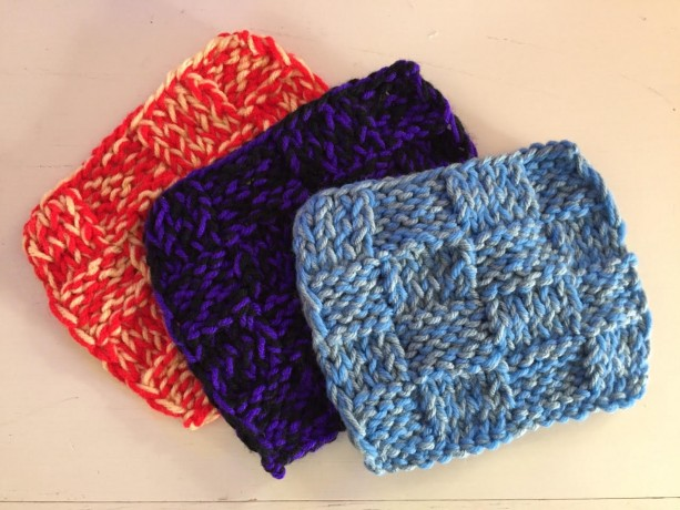 Dual Color Knit Washcloths by Give A Yarn Crafts