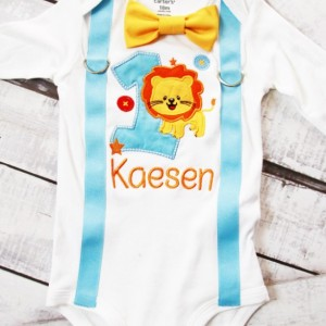 Boy first birthday Outfit Baby Blue Lion it's my birthday baby boy cake smash animal one year outfit birthday outfit birthday family shirts