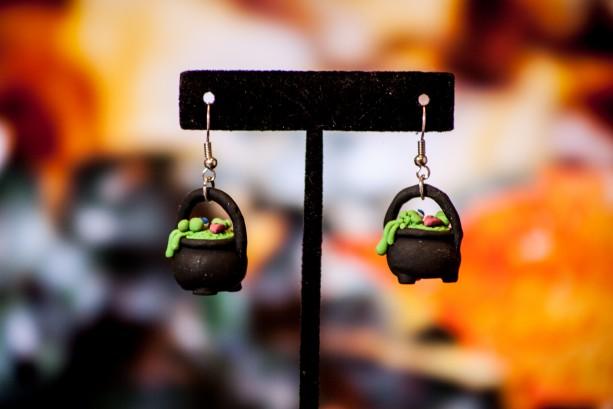 Bubbling Cauldron Dangle Earrings