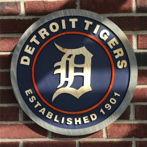 Detroit Tigers Est. 1901 Wood Carved Signs