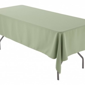 "60"" x 102"" Rectangular Sage Tablecloth Polyester 