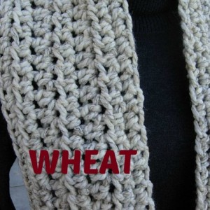 INFINITY SCARF Loop Cowl Off White with Black, Color Options, Bulky Soft Wool & Acrylic Blend Crochet Knit Winter Neck Warmer..Ready to Ship in 3 Days