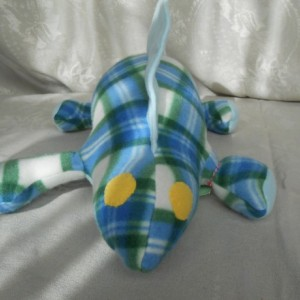 Green and Blue Plaid Dinosaur