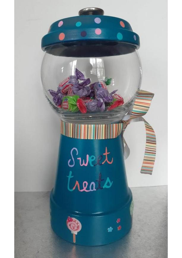 Candy Jar/Treat Jar/Treat Bowl/Terracotta Candy Jar/Terracotta