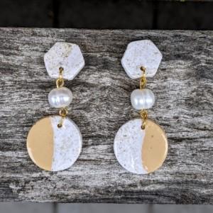 Beautiful Boho Earrings: Modern and Lightweight earrings | Geometrical Earrings | Fimo Earrings