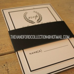 Simple black and white invites set of 100