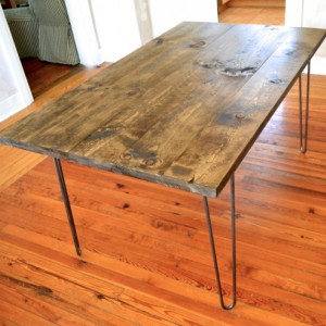 The Lee - Pine Wood Dining Room Table With Hairpin Legs