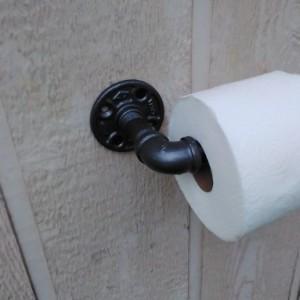 Industrial Toilet Paper Holder/ Rustic Bathroom Décor