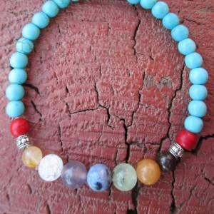 Chakra bracelet -  Blue Howlite