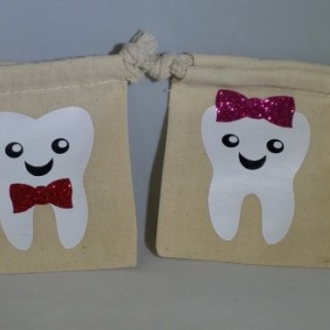unicorn tooth fairy bag pouch personalised keepsake child/'s first tooth 6588
