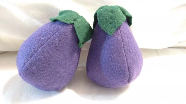 Felt Eggplant Pair (small)