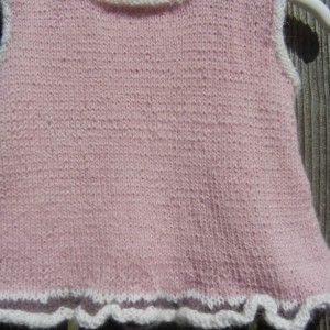 Hand Knit Alpaca Dress, Newborn Knitted Dress, Alpaca Pink Dress, Newborn Girl Dress, Alpaca Dress for Newborn, All Handmade, Ready to Ship