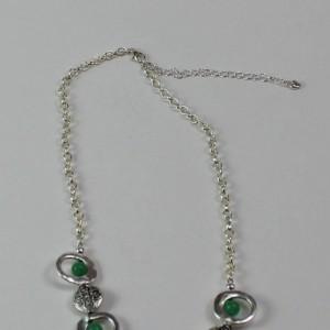 Semi Precious Stone And Cowboy Hat Pendant Statement Necklace
