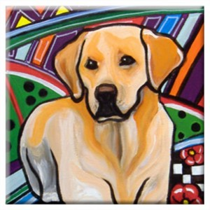 DOG TILE - LABRADOR - Signed By Artist A.V.Apostle