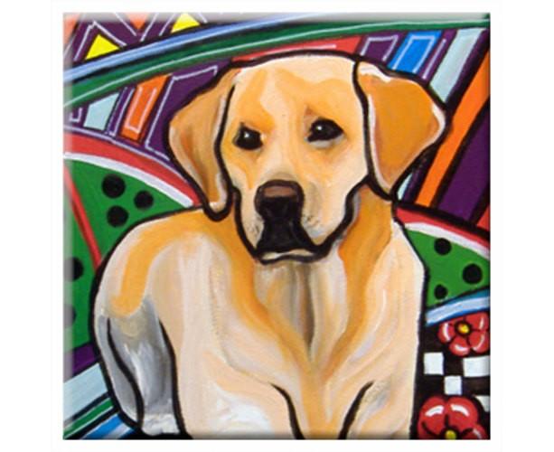 DOG TILE - LABRADOR - Signed By Artist A.V.Apostle