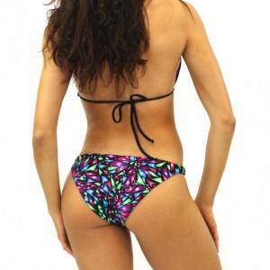 Brief-style Printed Bikini Bottoms