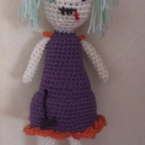zombie girl crochet doll