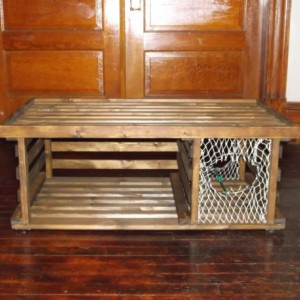 "Handmade ""HONEY STAINED"" Wooden Lobster Trap Coffee Table Made in Maine"