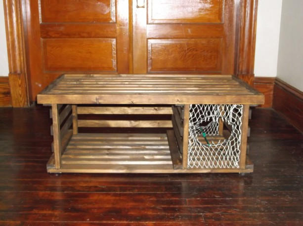 Handmade HONEY STAINED Wooden Lobster Trap Coffee Table Made in