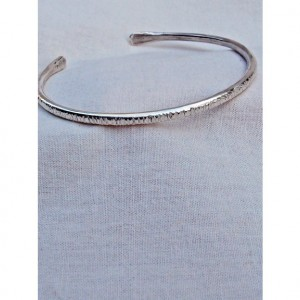 Sterling Bracelet Hashed Textured
