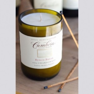 Customized Wine Bottle Soy Wax Candle 16 oz