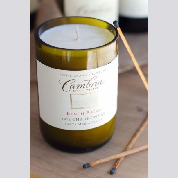 Customized Wine Bottle Soy Wax Candle 16 oz