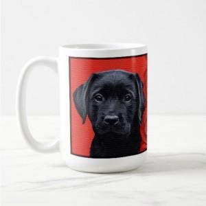 Black Lab Mug - Labrador Mug - Labrador Gifts - Lab Dog 2- Black Lab Painting - Lab Mom - Labrador Retriever - Black Dog Art - Black Lab Art