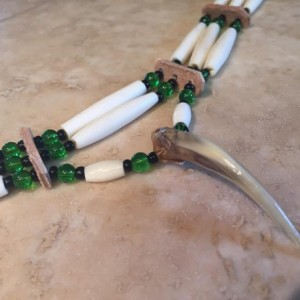 Native american choker with badger claw authentic native made