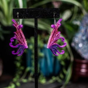 Polymer Pride Fairy Wing Earrings
