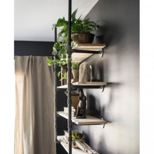 "Black Pipe Bookshelf, Open Bookshelf, Wall/Ceiling Mounted Bookshelf, Parts Kit for ""DIY"" Project, Easy to Assemble, SAVE MONEY!!"
