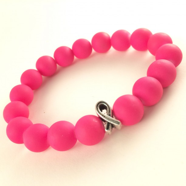 Breast Cancer pink rubber bracelet
