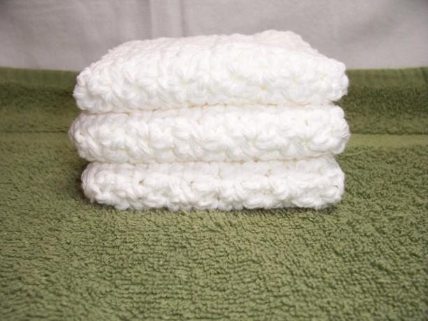 Set of 3 Handmade Crochet Cotton Dish,Bath,Wash Cloths,Dish Rags,Gifts,Housewarming