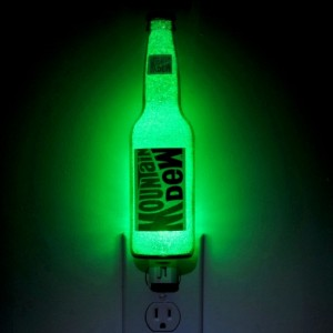 Mountain Dew 12 oz Glass Night Light Accent Lamp Eco 50,000 hour LED