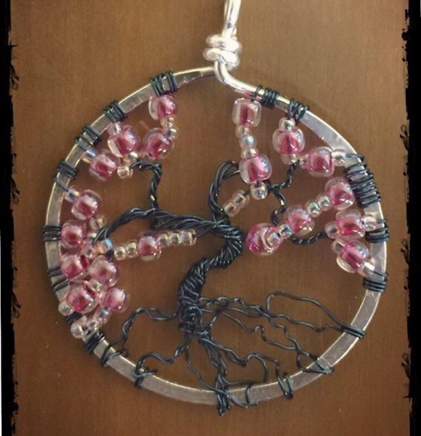 Cheery Blossom Tree of Life pendant