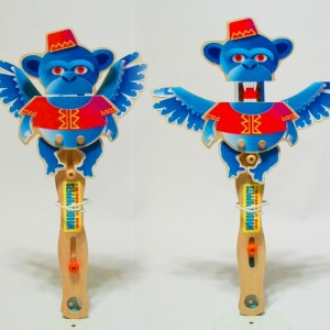 Christmas wooden puppets and puppet theater - Wizard of Oz Theme